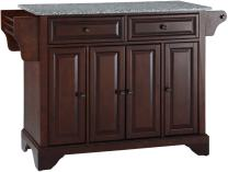 Crosley Furniture LaFayette Kitchen Island with Solid Grey Granite Top - Vintage Mahogany
