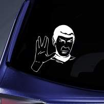 """Bargain Max Decals - Spock Sticker Decal Notebook Car Laptop 6"""" (White)"""
