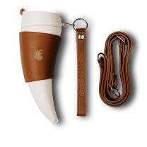 GOAT STORY Mug, Faux leather, 12 oz, Brown
