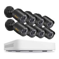 Anlapus 1080p Home Security Camera System, 8 Channel 1080N CCTV DVR Recorder with 8pcs 1080p Surveillance Bullet Cameras(No Hard Drive)