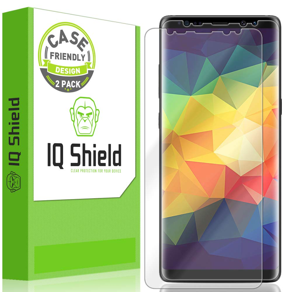 IQ Shield Screen Protector Compatible with Galaxy Note 8 (2-Pack)(Case Friendly)(Ultimate)(S Pen Compatible) Anti-Bubble Clear Film