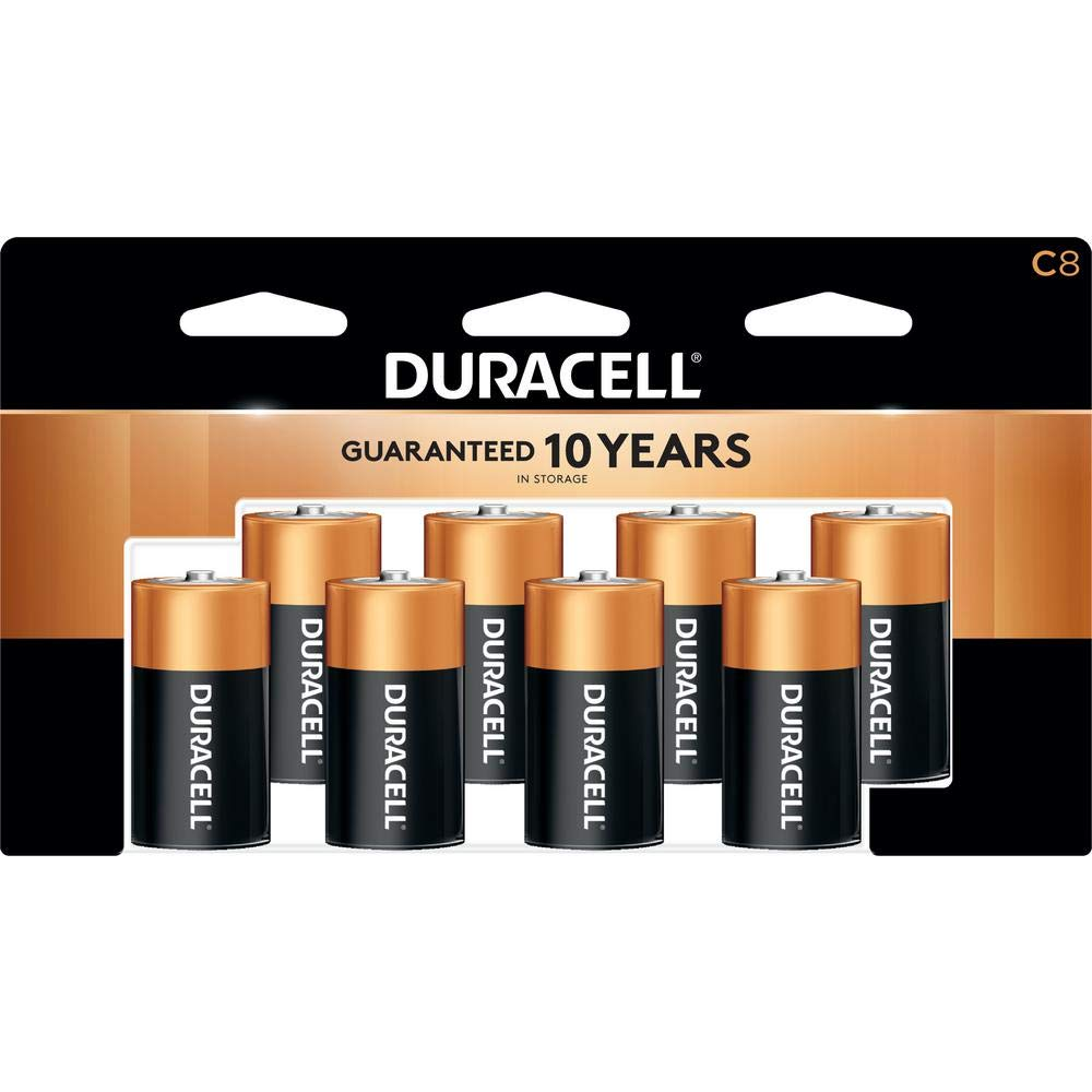 Duracell - Coppertop C Alkaline Batteries with recloseable package - long lasting, all-purpose C battery for household and business - 8 count