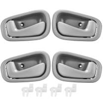 FAERSI 4Pcs Inside Interior Door Handles Front Rear Driver & Passenger Side Replacements for 1998 1999 2000 2001 2002 Corolla Prizm Manual Lock, Gray