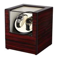 Slsy Automatic Double Watch Winders Box with AC or Battery Powered, Dual Wooden Winder Rotator Storage Case with Quiet Japanese Motors for Men