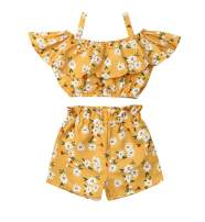 Toddler Girl Sleeveless Outfits Miss Sassy Pants Floral Shorts Set Clothes