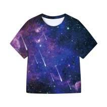 SAYM Girls' Youth Kids Universe Moisture Wicking T-Shirt Tee 3-16 Years