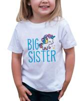 7 ate 9 Apparel Girls Big Sister Unicorn T-Shirt