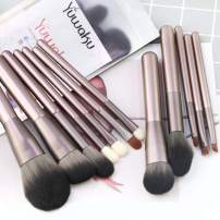 Makeup Brushes Set, Yuwaku Professional Make Up Brush 12Pcs Premium Foundation Kabuki Powder Blush Eyeshadow Brushes with Poly Bag