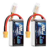 Zeee 11.1V 120C 1500mAh 3S RC Lipo Battery Graphene Battery with XT60 Plug for FPV Racing Drone Quadcopter Helicopter Airplane RC Boat RC Car RC Models(2 Pack)
