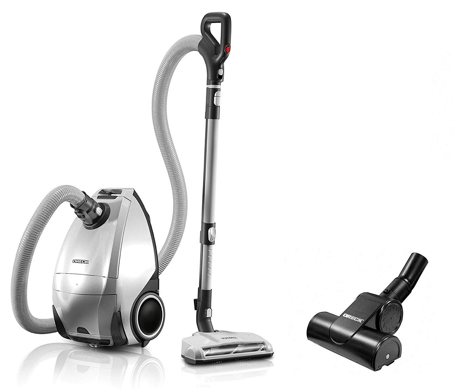 ORECK Venture Pro PetPower Multi Floor Bagged Canister Vacuum Cleaner   Carpet, Tile and Hardwood Flooring   Dirt, Debris, Pet Hair   Lightweight, High-Suction Clean   7 Year Warranty and 7 Tune-Ups