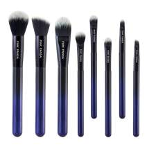 PINKPANDA Makeup Brushes 8 Pcs Noble Blue Professional Makeup Brush Set Premium Cosmetic Brushes Foundation Blending Blush Concealers Eye Shadows Face Powder Kabuki Make Up Brushes Kit
