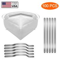 Aluminum Strips Nose Wire - Metal Nose Bridge - Nose Wire Nose Bridge - 90mm Length Metal Flat Aluminum Bar Strip Trimming - for Face Making Accessories Handmade Clip for Crafting (100 PCS)