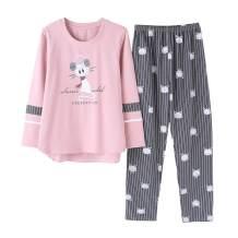 Vopmocld Big Girls Winter Pajama Sets Long Sleeve Striped Printed Sleepwear 2 Piece PJS