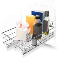 "Home Zone Living Pull-Out Organizer | 11"" W x 21"" D | Under Cabinet Kitchen Basket Organization"