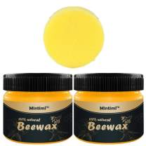 2 PACK Wood Seasoning Beewax, 2020 Beeswax Wood Furniture Cleaner and Polish for Wood Doors, Tables, Chairs, Cabinets