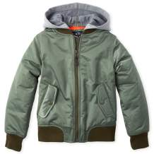 The Children's Place Boys' Big Hooded Bomber Jacket