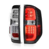 VIPMOTOZ Premium LED Tail Light Lamp Assembly For 2014-2019 Toyota Tundra Pickup Truck - Black Housing, Driver and Passenger Side
