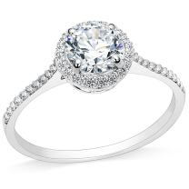 2.0 Carat Stainless Steel Solitaire Engagement Ring Propose Wedding Anniversary Statement