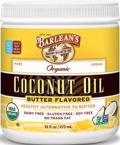 Barlean's Organic Oils Butter Flavored Coconut Oil, 16 Ounce
