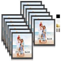 LaVie Home 8x10 Picture Frames (12 Pack, Black) Simple Designed Photo Frame with High Definition Glass for Wall Mount & Table Top Display, Set of 12 Classic Collection