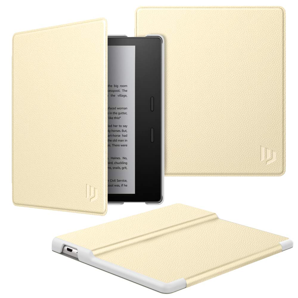 Dadanism Case Fits All-New Kindle Oasis 10th Generation 2019 Release / 9th Generation 2017 Release, Premium PU Leather Lightweight Shell Crushproof Cover with Auto Wake/Sleep - Champagne Gold