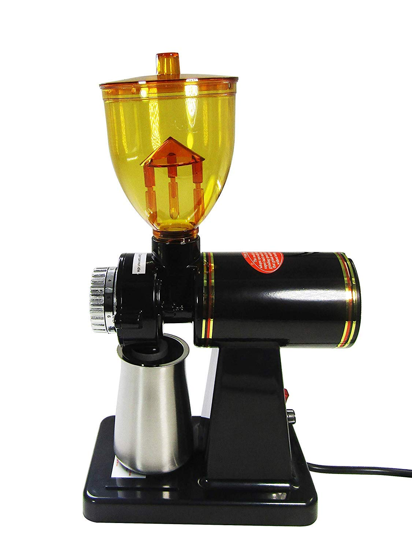 JIAWANSHUN 250g Automatic Coffee Burr Grinder Coffee Burr Mill Coffee Bean Grinder (220V, Black)