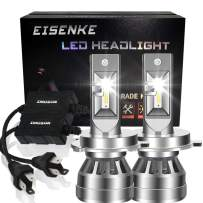 EISENKE h4/9003 led headlight bulbs dual beam Conversion Kit high beam low beam 80W 8000lm 6000K Xenon white