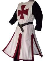 Mens Knight Tunic Templar Crusader Renaissance Costume Medieval Viking Pirate Cloak Cosplay Halloween Tops
