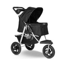 Dog Stroller for Cat and Dog - Deluxe 3-Wheel Pet Strollers for Small and Medium Cats, Dogs, Puppy