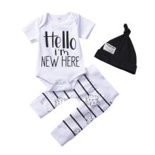 Preemie Baby Clothes, Newborn Boys Girls I Am New Here Onesies Pant Hat for Unixex Baby Outfits