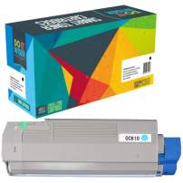 Do it Wiser Remanufactured Toner Cartridge Replacement for Oki C610 C610n c610dn | 44315303 (Cyan)