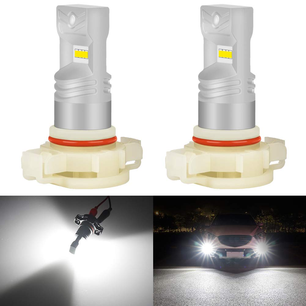 KATUR 5202 5201 Led Fog Light Bulb Max 80W High Power CSP Chips Extremely Bright 1600 Lumens 6500K Xenon White Replace for Fog Light or Daytime Running Light DRL,Pack of 2
