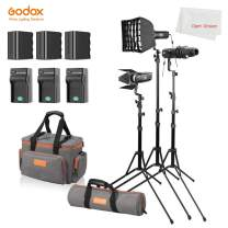 Godox S30-D 90W Focusing LED Spotlight with NP970 Battery Accessories Kit 5600 Color Temperature,CRI 96+,Continuous LED Light for Video Light Professional Photography