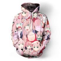 3D Print Anime Hoodie Casual Cosplay Hooded Pullover Sweatshirt Jacket