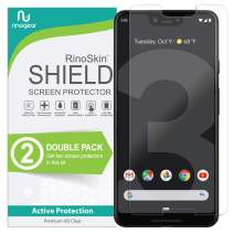 (2-Pack) Google Pixel 3 XL Screen Protector RinoGear Case Friendly Screen Protector for Google Pixel 3 XL Accessory Full Coverage Clear Film