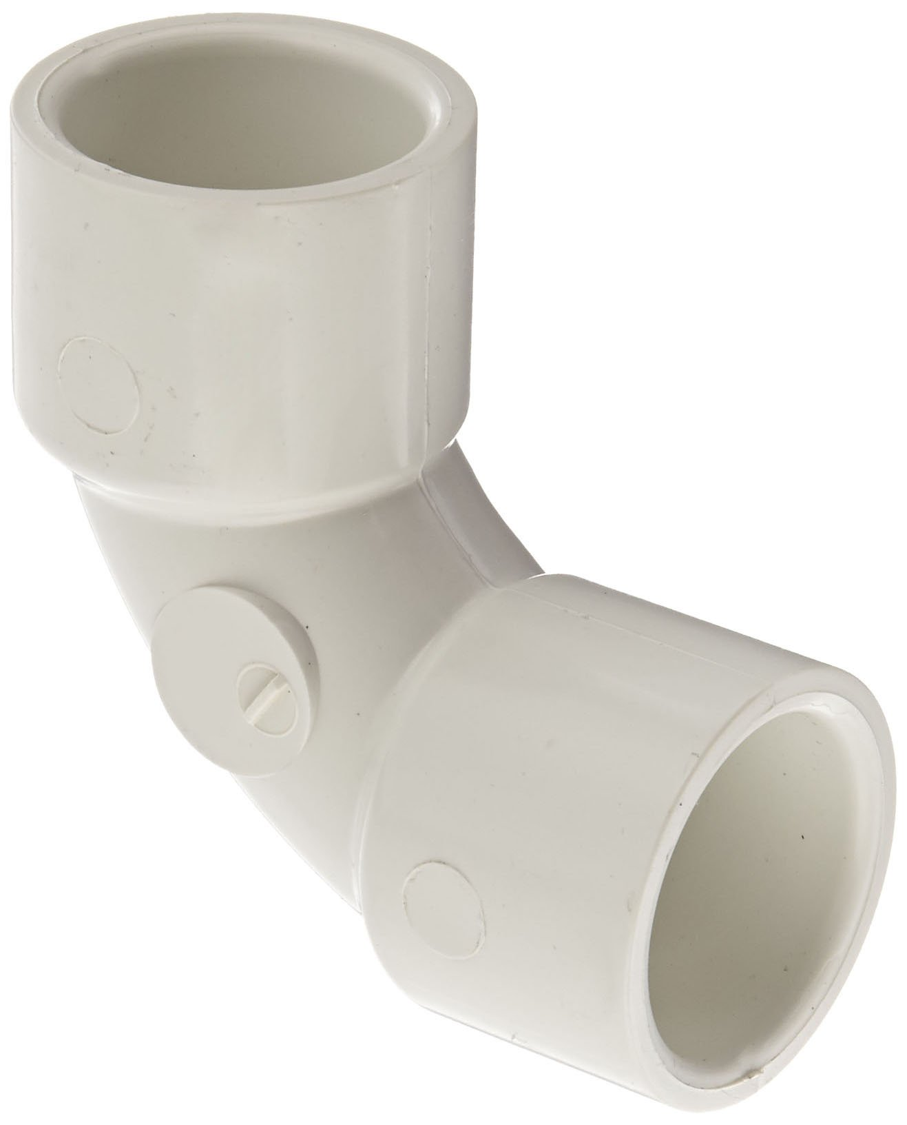 """Spears 406-S Series PVC Pipe Fitting, 90 Degree Sweep Elbow, Schedule 40, 1"""" Socket"""