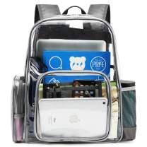 Packism Heavy Duty Clear Backpack Large Waterproof Transparent School Bookbag