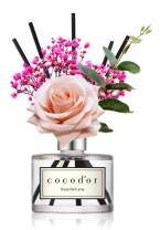 Cocod'or Rose Flower Reed Diffuser, Rose Perfume Reed Diffuser, Home Decor & Office Decor, Fragrance and Mother's Day, Birthday, Wedding Gifts, 6.7oz