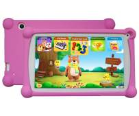 Kids Tablet, Enhance/Train Kid's Abilities and Develop Talents,120+ Spanish&English Educational Preloaded Apps, 7 Inch HD Display, 1+8G Android 6.0 Tablet-Purple