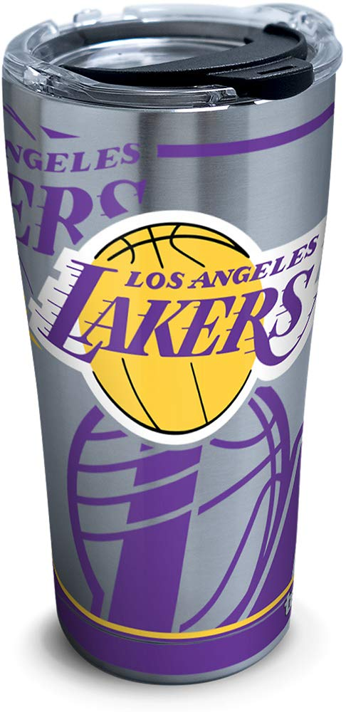 Tervis 1287702 Nba Los Angeles Lakers Paint 20 Oz Stainless Steel Tumbler With Lid 30 Oz Silver