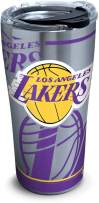 Tervis 1287702 Nba Los Angeles Lakers Paint 20 Oz Stainless Steel Tumbler with Lid, 30 oz, Silver