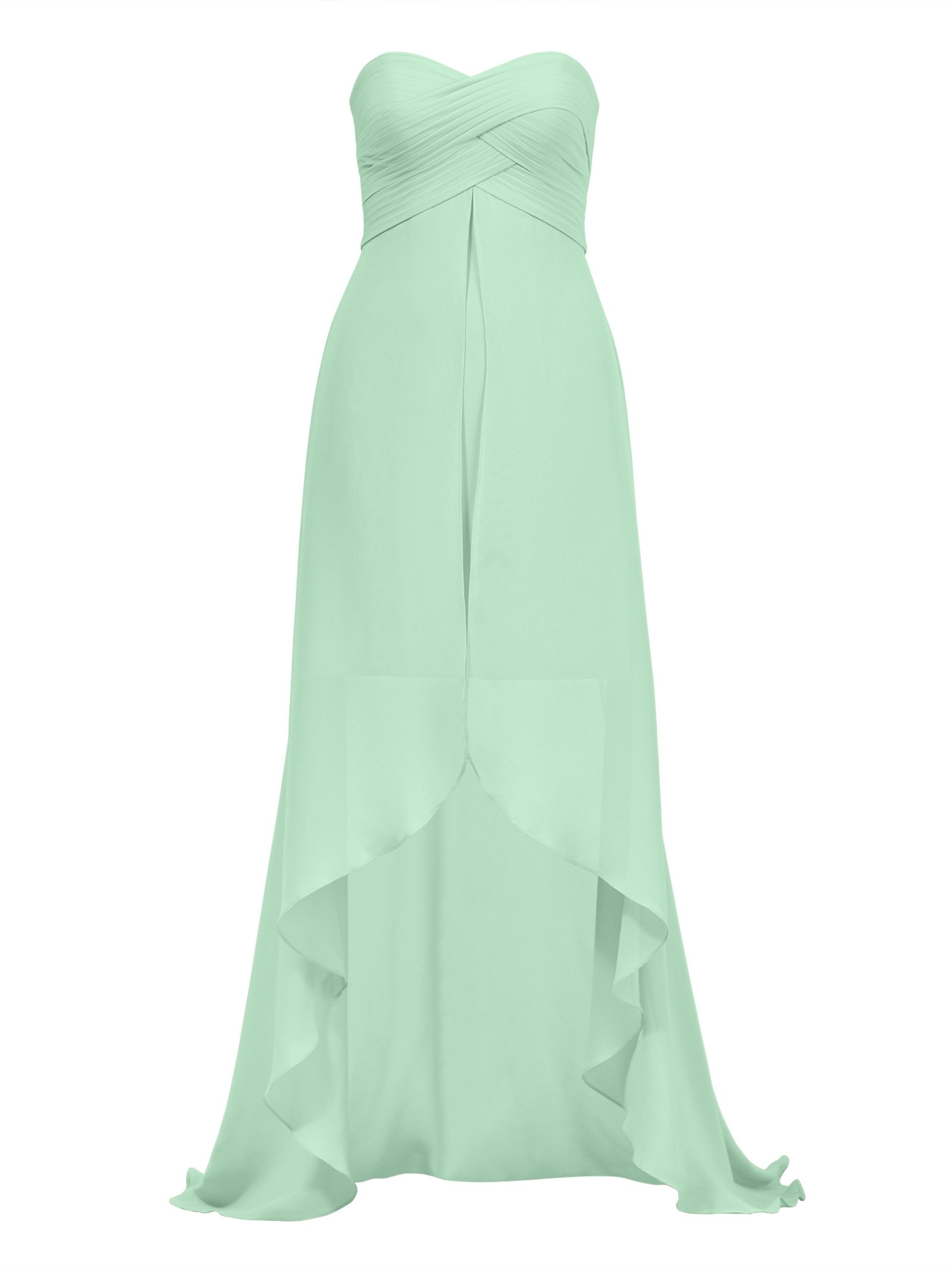 Alicepub Hi-Lo Chiffon Bridesmaid Dress Sweetheart Women's Evening Party Dresses