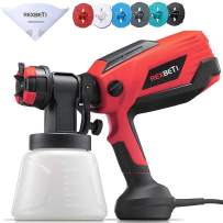REXBETI Paint Sprayer, 700 Watt High Power Hvlp Home Electric Paint Gun for House, with 1000ml Container, Easy Spraying and Cleaning, with 6 Nozzle Size for Painting Fence, Deck, Ceiling and Furniture