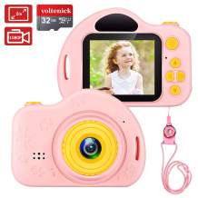 voltenick Kids Camera Toys for 3-10 Year Old Girls, Kids Digital Cameras 1080P 2 inch Toddler Video Camera Gift for Age 3 4 5 6 7 8 9 Years Old Girls Best Birthday Gifts with 32G SD Card (Pink)