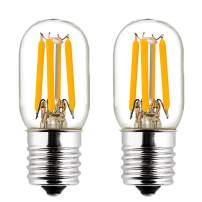 LiteHistory E17 led Bulb ETL 25W Appliance t7 led Bulb 250lm 4000K 2W Microwave Light Bulb 2Pack