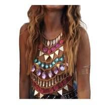 Victray Rhinestone Body Chains Beach Bikini Chain Bra Fashion Charm Harness Body Accessories Jewelry for Women and Girls