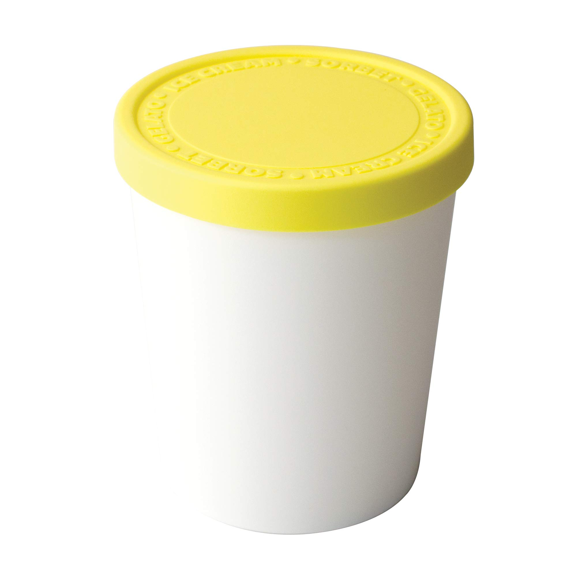 Tovolo Tight-Fitting, Stack-Friendly, Sweet Treat Ice Cream Tub - Lemon