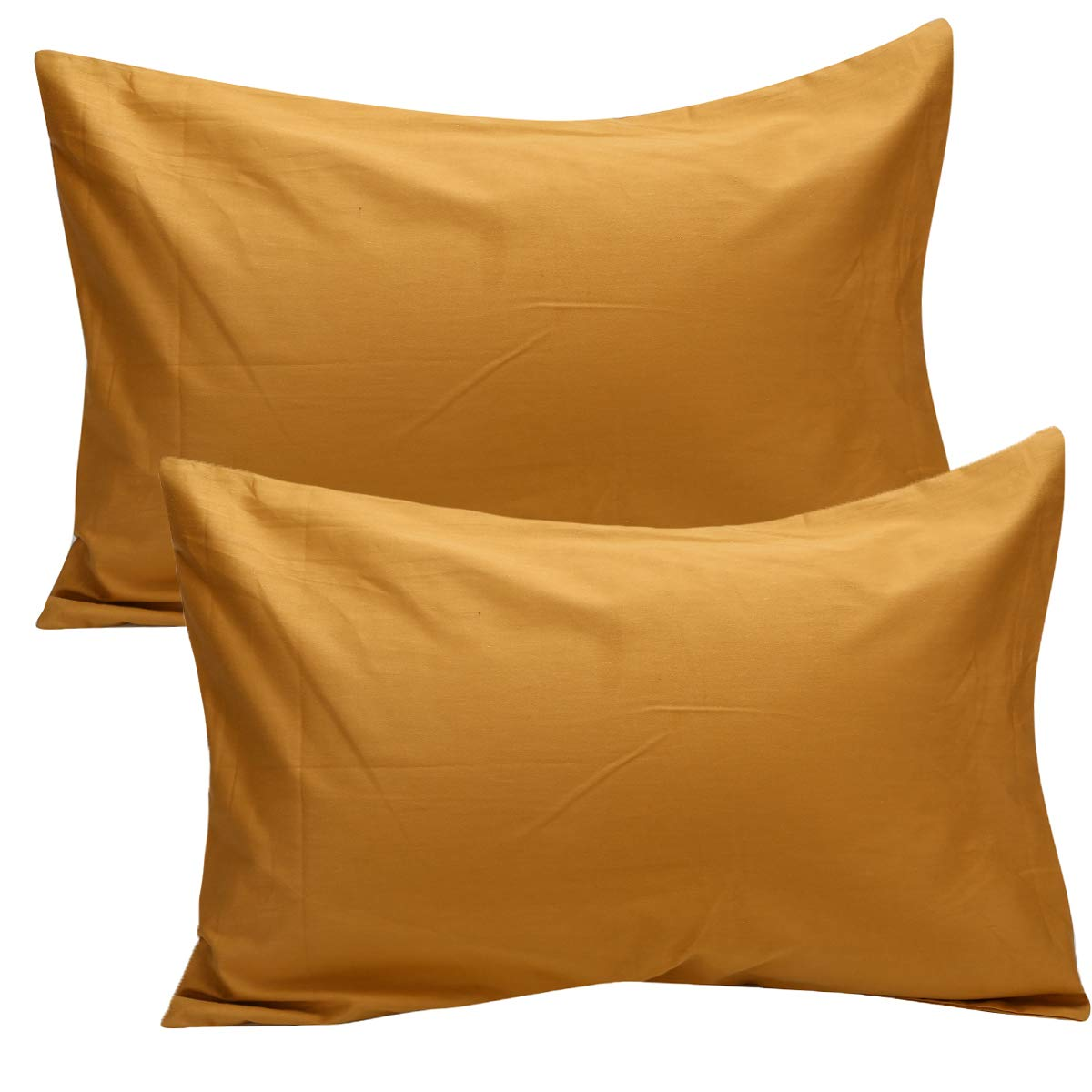 UOMNY Kid Pillowcases 2 Pack 100% Cotton Pillow Cover 14x20 Baby Pillow Cases for Sleeping Tiny Pillows case for Kids Solid Pillowcases Travel Pillowcases Ginger Yellow Kids' Pillowcases