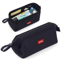 CICIMELON Multifunctional Pencil Pen Marker Case Pouch Bag Holder Small Cute Capacity for High Middle Primary School Student Aesthetic Teen Girl Boy Office Men Women Nurse Adults Portable (Black)