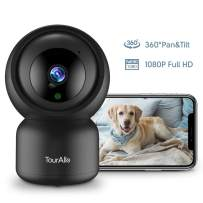 Pet Camera, TourAlle 1080P Pan/Tilt/Zoom WiFi Indoor Security Camera, Dog Camera with Phone App, Motion Tracking, Instant Alarm, 2-Way Audio, Night Vision, Baby Camera with Encrypted Cloud, New Model